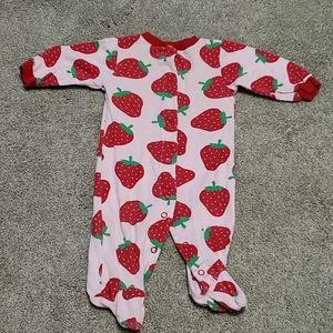 Baby girl strawberry pajamas